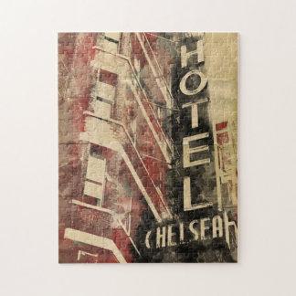 チェルシーのホテルのニューヨークのヴィンテージの芸術のパズル ジグソーパズル