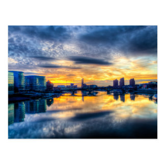 チェルシー橋からのロンドンの都市景観 ポストカード