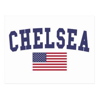 チェルシー米国の旗 ポストカード