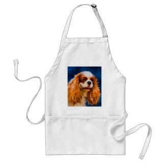 チェルシー-無頓着なチャールズ王スパニエル犬の芸術 スタンダードエプロン
