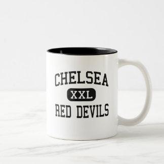 チェルシー-赤い悪魔-高チェルシー ツートーンマグカップ