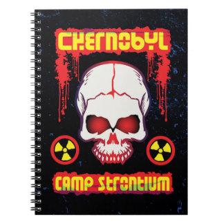 チェルノブイリの白熱[赤熱]光を放つな放射性スカル ノートブック