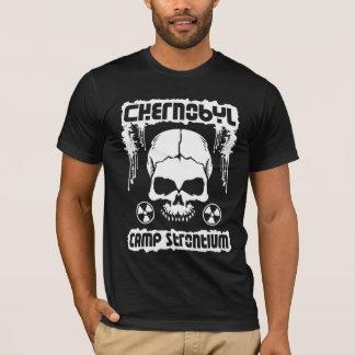 """チェルノブイリの""""キャンプのストロンチウム""""の放射のスカル Tシャツ"""