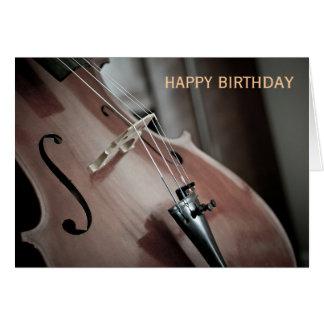 チェロのクラシック音楽の楽器の誕生日 カード