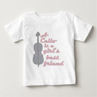 チェロの女の子 ベビーTシャツ