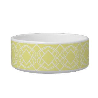 チェロの柔らかいバター・イエローの格子垣のデザイン ボウル