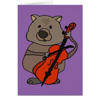 チェロの漫画を遊ぶおもしろいなWombat カード