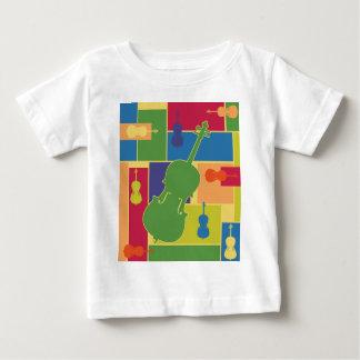 チェロのColorblocksのベビーのTシャツ ベビーTシャツ