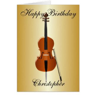 チェロはちょうど一流の誕生日を加えます カード