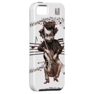 チェロは|のヴィンテージのMuscian |の壁の芸術を切り刻みます iPhone SE/5/5s ケース