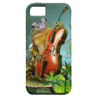 チェロを演奏している電話箱のカエル iPhone SE/5/5s ケース