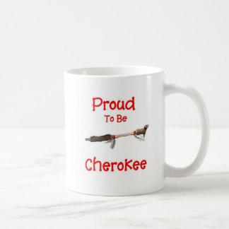 チェロキーがあること誇りを持った コーヒーマグカップ