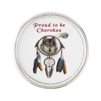 チェロキーがあること誇りを持った ラペルピン
