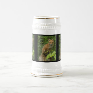 チェロキーキツネの美しい写真ステイン ビールジョッキ