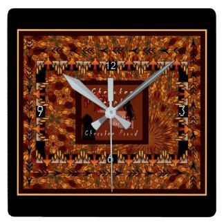 チェロキー国家 スクエア壁時計