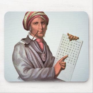 チェロキー学者、Sequoyah (1776-1843年) (色 マウスパッド
