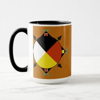 チェロキー4方向コーヒー・マグ マグカップ