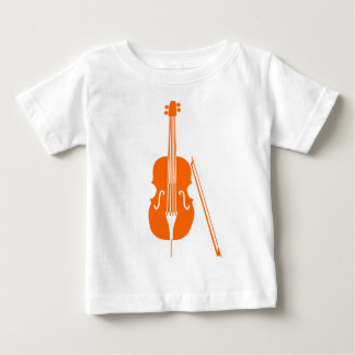 チェロ-オレンジ ベビーTシャツ