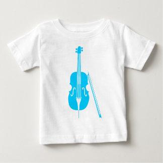 チェロ-スカイブルー ベビーTシャツ