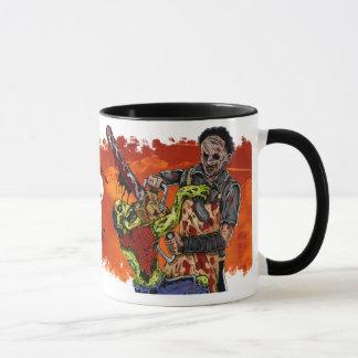 チェーンソー対ゾンビのコップ マグカップ