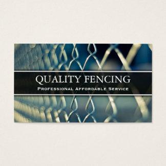 チェーン・リンクのフェンシング/塀の写真の名刺 名刺