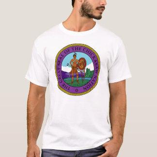 チカソーの国家のシール Tシャツ
