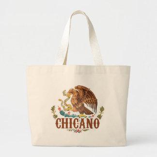 チカーノメキシコの紋章付き外衣 ラージトートバッグ