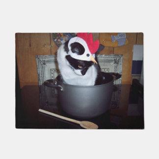 チキンスープ猫の台所マット ドアマット