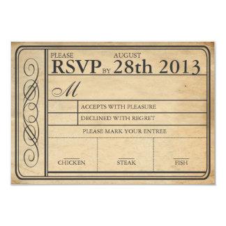 チケットRSVP IIのPunchoutを結婚するヴィンテージ カード
