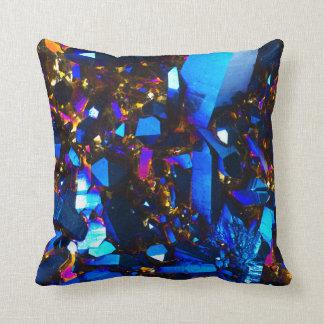 チタニウムのコバルトブルーの水晶 クッション