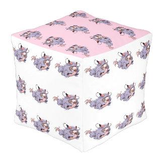 チタニウムのブタのカスタムなポリエステルによって立方体にされるPouf (大きい) プーフ