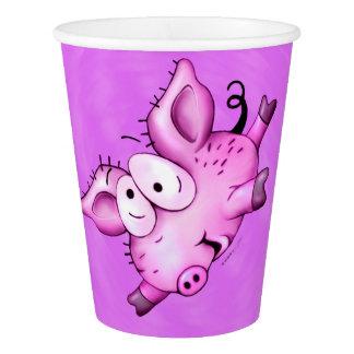 チタニウムのブタペット紙コップの紫色2 紙コップ