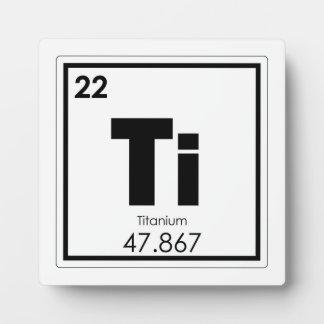 チタニウムの元素の記号化学方式 フォトプラーク