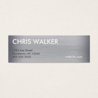 チタニウムの金属の質の小型カード スキニー名刺