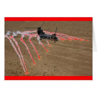 チヌックのヘリコプター熱火炎信号 カード