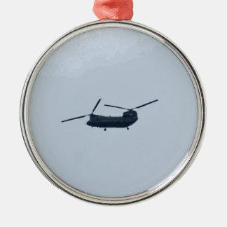 チヌックのヘリコプター メタルオーナメント
