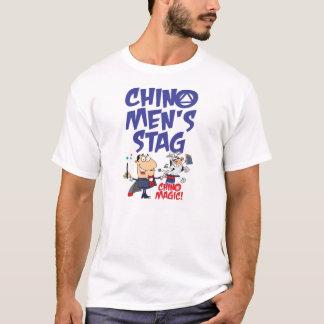 チノの人の雄鹿のTシャツ Tシャツ