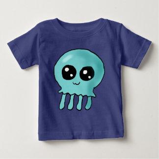 チビ(小さくかわいく書いた感じ)のくらげのワイシャツ ベビーTシャツ