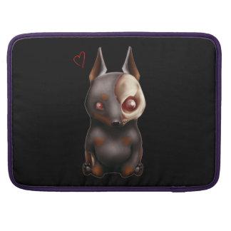 チビ(小さくかわいく書いた感じ)のゾンビ犬のMacbookのプロ袖 MacBook Proスリーブ