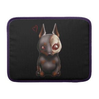 チビ(小さくかわいく書いた感じ)のゾンビ犬のMacbookの空気袖 MacBook スリーブ