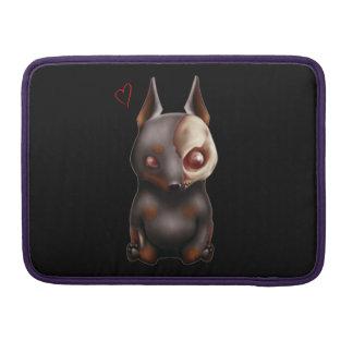 チビ(小さくかわいく書いた感じ)のゾンビ犬のMacbookの袖 MacBook Proスリーブ