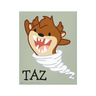 チビ(小さくかわいく書いた感じ)のトルネードTAZ™ キャンバスプリント
