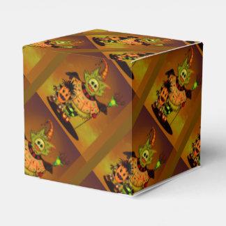 チビ(小さくかわいく書いた感じ)の人形のギフト用の箱のクラシック2x2ハロウィン フェイバーボックス