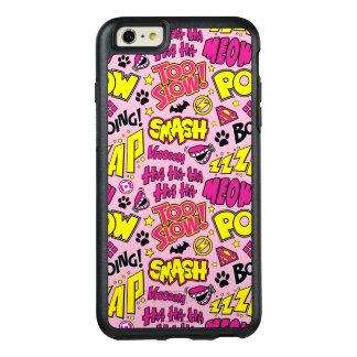 チビ(小さくかわいく書いた感じ)の喜劇的な句およびロゴパターン オッターボックスiPhone 6/6S PLUSケース