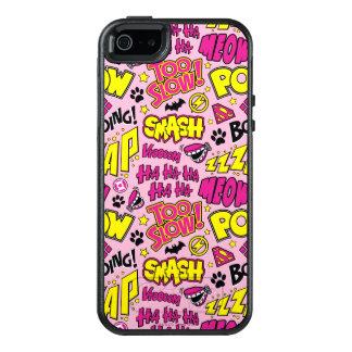 チビ(小さくかわいく書いた感じ)の喜劇的な句およびロゴパターン オッターボックスiPhone SE/5/5s ケース