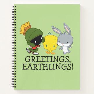 チビ(小さくかわいく書いた感じ)マーヴィンMARTIAN™、TWEETY™、及びバッグス・バニーの™ ノートブック
