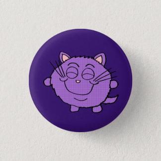 チビ(小さくかわいく書いた感じ)幸せな猫ボタン 3.2CM 丸型バッジ