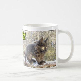 チビ(小さくかわいく書いた感じ)猫の変種 コーヒーマグカップ