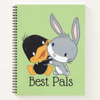 チビ(小さくかわいく書いた感じ) DAFFY DUCK™及びバッグス・バニーの™ ノートブック