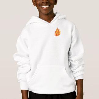 チビ(小さくかわいく書いた感じ) Kaiusキット、火、子供のフード付きスウェットシャツの保護者